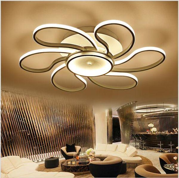 Nueva superficie montada moderna Led luces de techo para sala de estar dormitorio lámpara accesorio de iluminación hogar iluminación interior lámpara de techo