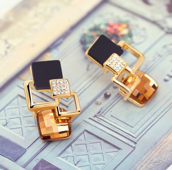 New Retro di alta qualità Magic Space piccolo incenso geometrica moda orecchini di diamanti per le donne orecchini di cristallo orecchini