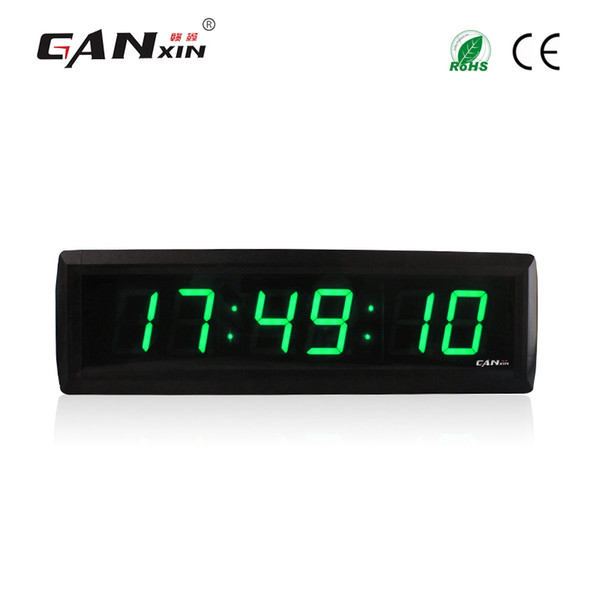 [Ganxin] 1.8 inch 6 Digits Green Portable Digital Countdown Timer Wall Clock LED Display for Home With Remote Control