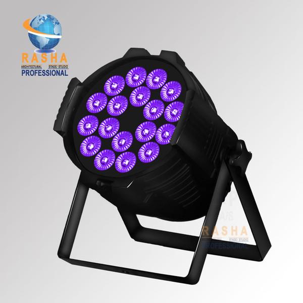 4X LOT UK STOCK 18x18W 6in1 RGABW UV LED Par Light Aluminum LED Par Can For Stage Event Par64 Light Stage Light
