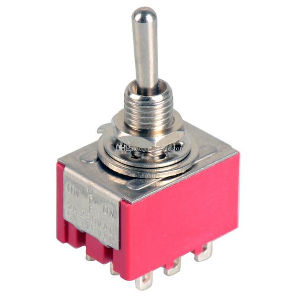 Nuevo interruptor de palanca mini de 9 pines 3PDT 2 posiciones ON-ON 2A250V / 5A125VAC MTS-302 B00276 OSTH