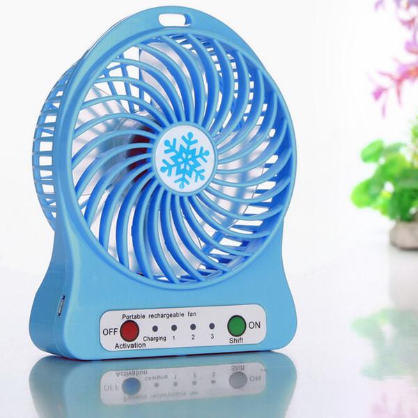 Tragbare wiederaufladbare LED-Licht Lüfter Luftkühler Mini Schreibtisch USB 18650 Akku Lüfter Luftkühler Multifunktions-Lüfter