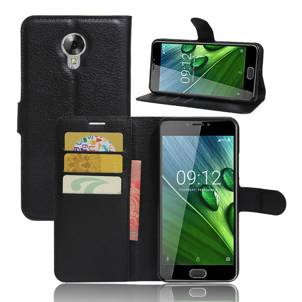 Case for Acer Liquid Z6 plus, Litchi Pattern PU Leather Wallet Stand Case Cover with Card Slot