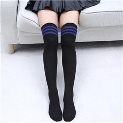 black with blue stripe