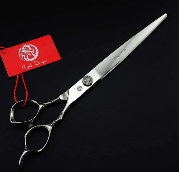 Pets Scissors 671# 8'' 22cm Brand Purple Dragon Hairdressing Scissors With Bag 440C Dogs Cats Pets Cutting Shears Hair Scissors