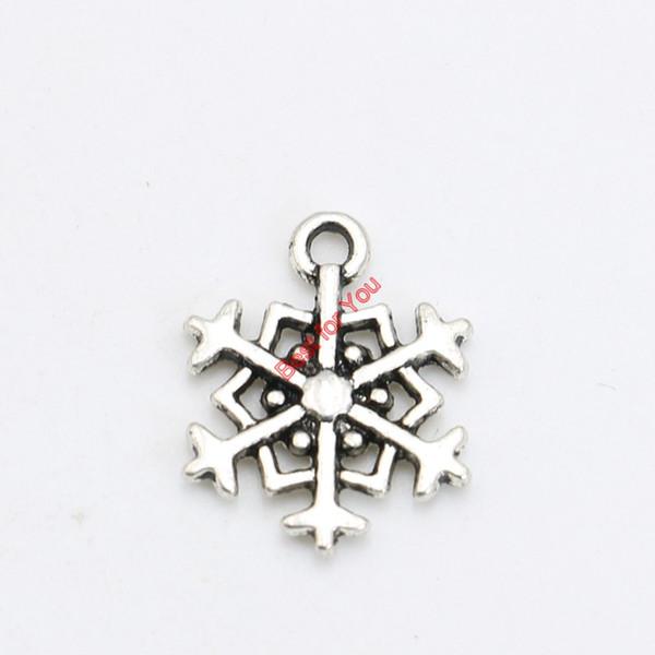 30 pcs Antigo de Prata Banhado A Floco De Neve Encantos Pingentes Pulseira Colar de Jóias Fazendo Acessórios DIY 18x14mm
