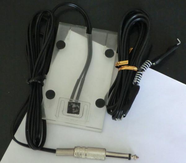10Pcs Clear Acrylic Tattoo Foot pedal Switch & 10Pcs Tattoo CLIP CORD For Tattoo Machine Gun Power Supply