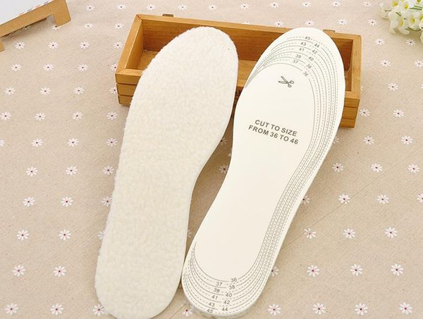 Unisex Men Womens Winter Warm Comfortable Wool Winter Shoe Insole Pad Size 36-45
