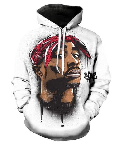 New Fashion Couples Men Women Unisex Legend Rapper 2pac tupac 3D Print Hoodies Sweater Sweatshirt Jacket Pullover Top S-5XL T50