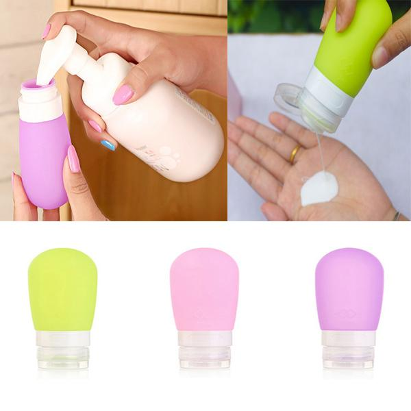 top popular For Lotion Travel Packing Bottle Press Portable Bottle For Lotion Shampoo Bath Container Makeup Cosmetic Organizer 38ML 80Ml WX-B26 2019