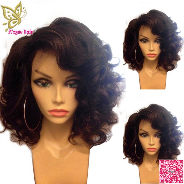 Body Wave Lace Front Wigs Brazilian Short Human Hair Full Lace Wig With Bleached Knots Baby Hair Grade 6A