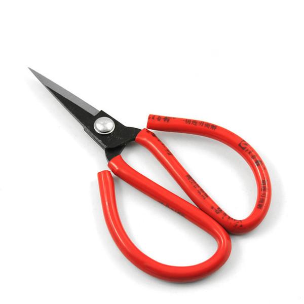 "Free shipping wang wu quan 8"" forged carbon steel household scissors rubber coated garden bonsai scissor"