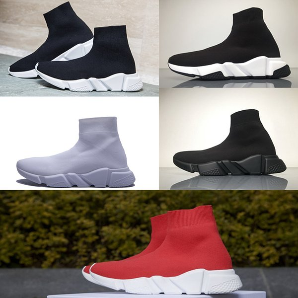 Brand Best Speed Sock Sneakers Mens Women stretch-knit Mid sneakers Speed Trainer running shoes Lightweight Casual Sports Shoes dust bags