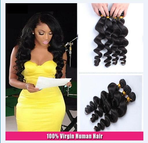 8A High Quality Malaysian Loose Wave Human Hair Extensions 8-30inch Natural Black Color Dyeable 4pcs/lot Free Shipping