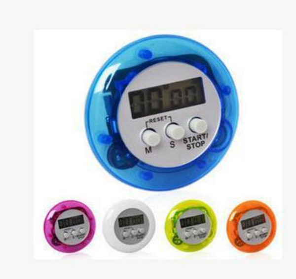 Novelty Digital Kitchen Timer Kitchen Helper Cooker Timer Mini Digital LCD Kitchen Count Down Clip Timer Alarm Free Shipping 30pcs