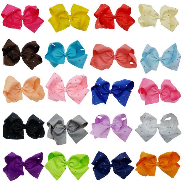 Arco di capelli con strass 8 pollici JOJO con clip per bambini scuola bambini pastello 10 stile