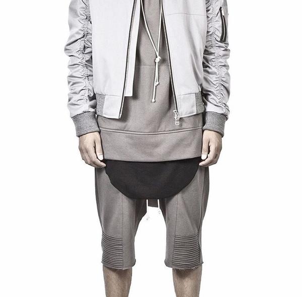 Wholesale-kanye west fashion mens jumpsuit sweatpants trousers hip hop clothing men jogger khaki harem pants biker joggers sweat