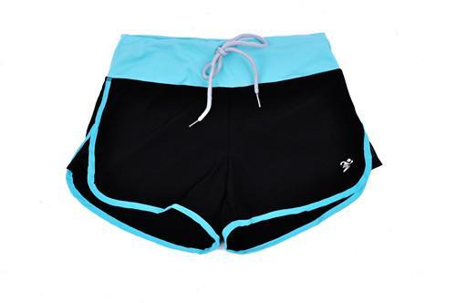 Venta al por mayor-4 colores de las mujeres pantalones cortos de verano 2016 de moda de las mujeres ocasionales del deporte corto de la aptitud elástica de la cintura sueltos pantalones cortos para correr ocasionales