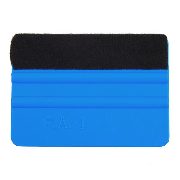 best selling Squeegee Car Film Tool Vinyl Blue Plastic Scraper Squeegee With Soft Felt Edge Window Glass Decal Applicator