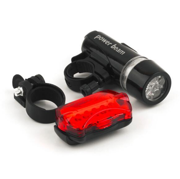 Wasserdichtes Fahrrad-LED-Licht Fahrrad-Front-Scheinwerfer + hinteres Sicherheitsfackel-Lampen-Schwarzes freies Verschiffen