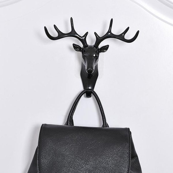 Antlers Head Wall Hanger Suction Cups Hooks For Hanging Clerk On The Wall Rack ventos Key Holder Home Decor Gancho De Parede