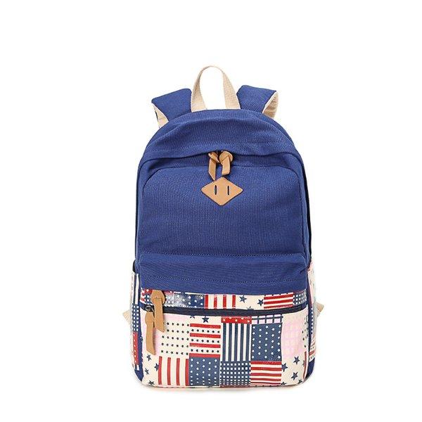 Best Selling Boys Girls Schoolbag Vintage Couple Traveling Backpack Canvas Laptop Fashion Flap Bag Blue Rose Red Black