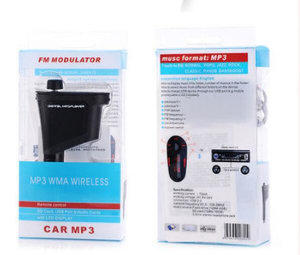 top popular High quality Car Kit MP3 Player Wireless FM Transmitter Modulator mp3 mp4 USB SD MMC LCD  Remote Charging usb Charger 2021