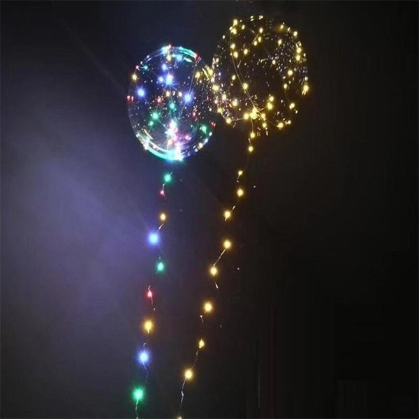 best selling Hot Gift Luminous Led Transparent 3 Meters Balloon Flashing Wedding Party Decorations Holiday Supplies Color Luminous Balloons Always Bright