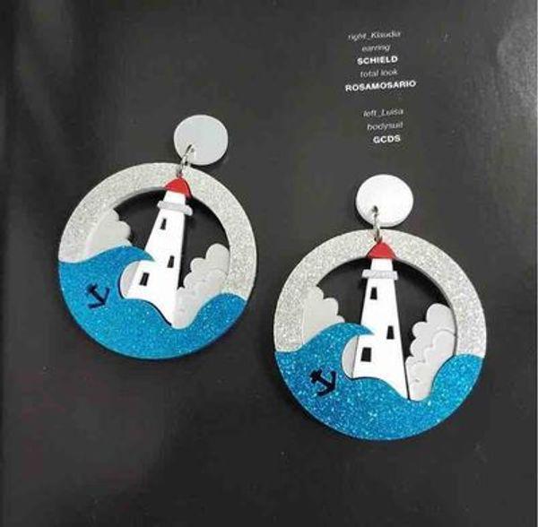 Acryl transparent Traumknospe durchbohrte Kätzchen Pinguin Rakete Ohrringe
