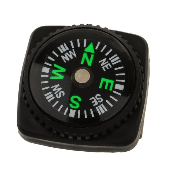 Wholesale-Pocket Compass with Holster Watch Band Paracord Bracelet Waterproof Compass Black Color Easy Carry Camping Hiking Accessory