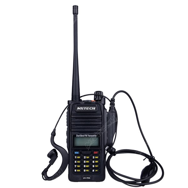 Professional Walkie Talkie Waterproof NKTECH IP57 UV 7RX With SOS FM Radio  Station CB Ham Radio Two Way VS BAOFENG BF A58 R760+Headset Walkie Best