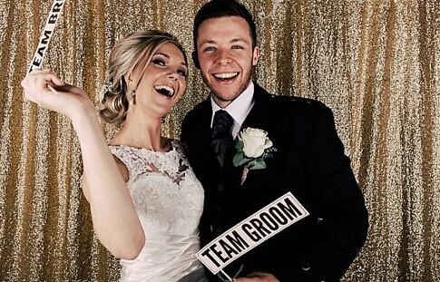 High Density-Sequin Backdrop Photography Sequin Fabric Photo Booth Wedding Party DIY-Gold-4x6ft