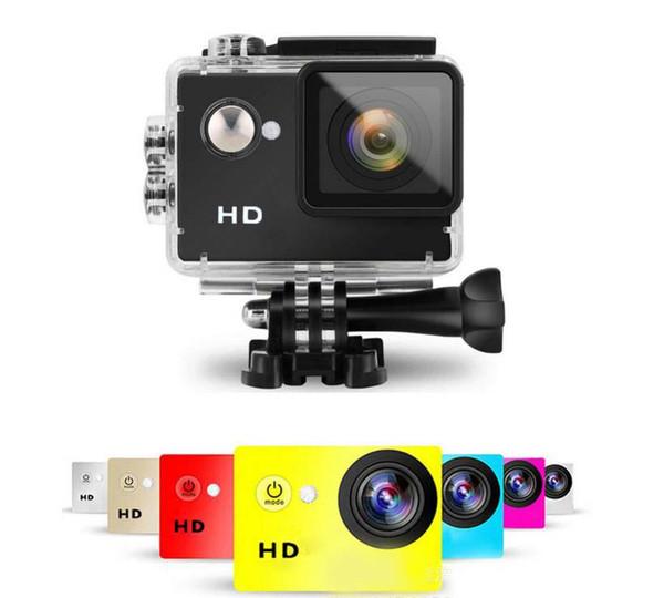 "2017- Waterproof Sports Camera SJ5000 Style A8 HD Action Camera Diving 720P 30M Cheap 2"" 120° View Mini DV digital retail package100PCS"