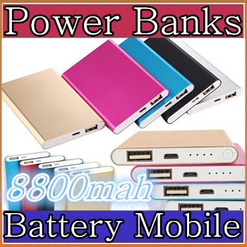 best selling Ultra thin slim powerbank 8800mah Ultrathin power bank for mobile phone Tablet PC External battery F-YD