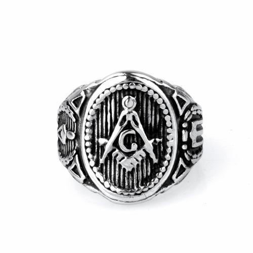 Freimaurer-Ring-Symbol-Mitglied der Männer Gold, Dark Gold, Silber Schwarz und Gold, Silber Schwarz, Silber Goldfarben für Choose Avivahc 51