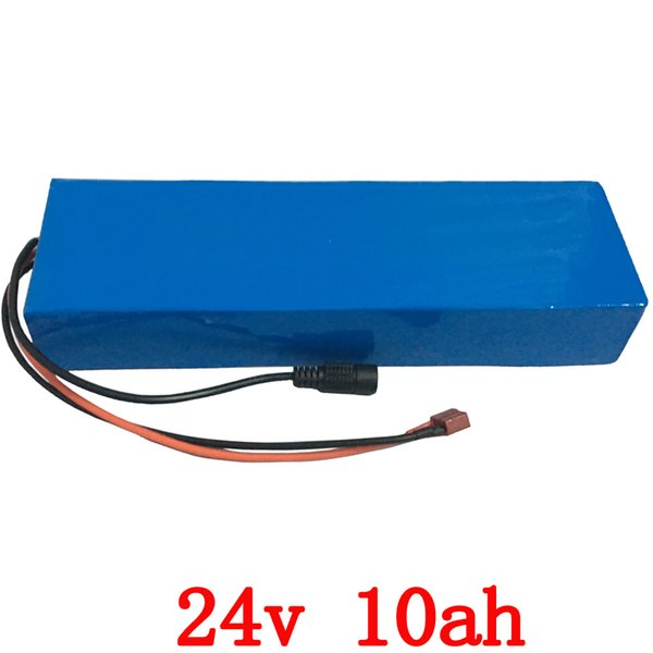 24v 10ah lithium electric bike battery 24v 10ah battery pack li-ion for bicycle 24v 350w e bike 250w motor with 15A BMS +Charger