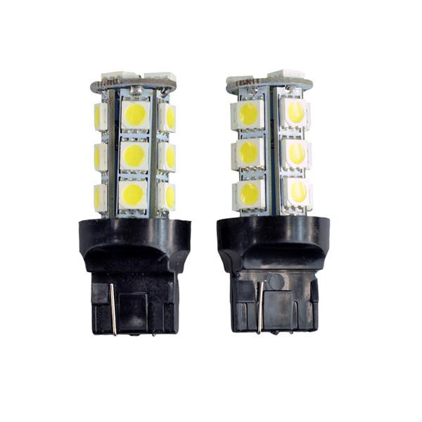 10 Pcs T20 LED Car Light Bulb 7440 7441 18 LEDs 5050 SMD DC 12V White 6000K DRL Brake Tail Reverse Lights Universal LED Lamp