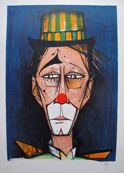 High Quality genuine Pure Hand Painted Abstract Art oil Painting On Thick Canvas Multi Size,V. BEFFA,CLOWN Bernard Buffet