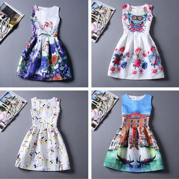 43844d1bc63 Woman clothe 2016 new fashion woman casual dress plus size dress designer  floral print sleeveless summer