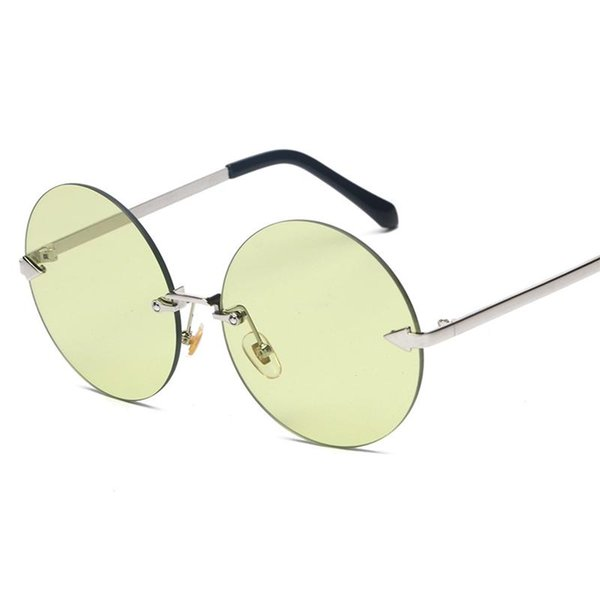 213615b74d New Women Brand Designer Sunglasses With Round Rimless Glasses High Quality  Vintage Luxury Sun Glasses Mirrored