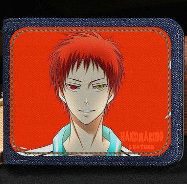 Akashi Seijuro wallet Kuroko Tetsuya basketball cartoon purse Anime short cash note case Money notecase Leather burse bag Card holders