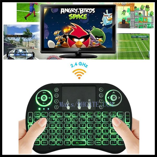Wireless Backlight Keyboard Rii Mini I8 2 4G Air Mouse Media Player Remote  Control Bluetooth Game Touchpad For Android TV Box M8S Keyboards Play
