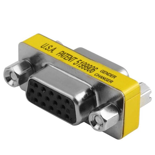 1 Stücke VGA HD15 Pin Gender Changer Weiblich zu Weiblich Konverter Adapter Top Verkauf
