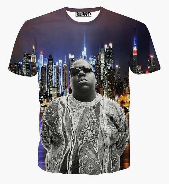 tshirt Summer tops for men 3d tshirt print famous fat star beautiful night New York city casual tees t-shirt B6