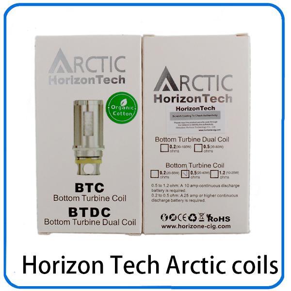 Horizon Tech Arctic atomizer Sub ohm BTC Coil и BTDC coil 0.2 0.5 1.2 ohm катушки для арктических распылителей танки 0202035