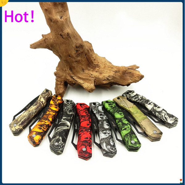 top popular Top quality 8 styles Ghillie Pocket Folding Blade Knives Fruit knife ABS Handle Knife EDC Mini Pocket Survival folding Knife knives Free DHL 2019