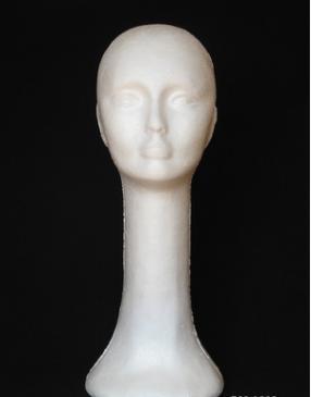 Profesyonel eğitim kafa İnsan saç peruk için beyaz kafa bebek ekran uzun boyunlu strafor peruk kafaları uzun boylu YZX 006