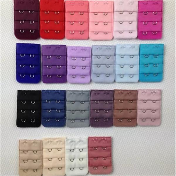 1000pcs Ladies 2 Hooks Bra Strap Extender hook clip perfect Nude ADJUSTABLE BELT buckle multi color available a9-a16