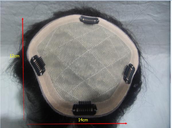 14 cm * 12 cm perucas de cabelo humano do laço completo pedaço de Cabelo perucas de cabelo virgem brasileiro 100% simulação do couro cabeludo seda Alta moda peruca kabell