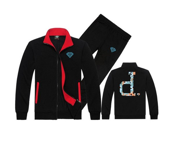 free shipping men s-5xl Tracksuit Diamond Supply sweat suit knitting leisure hoodies Male hoodie + casual sports pants